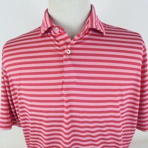 Fairway & Greene Large Golf Polo Shirt Striped